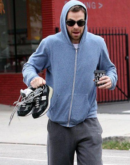 Chris Pine-allenamento-mattutino