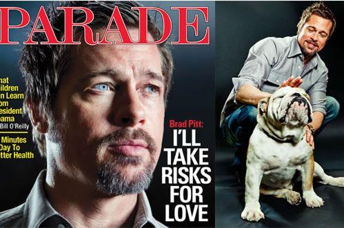 """Brad Pitt continua la promozione di """"Bastardi senza gloria"""" facendosi immortalare sulla copertina del prossimo numero di Parade. Oltre alle foto c'è anche un'interessante intervista.."""