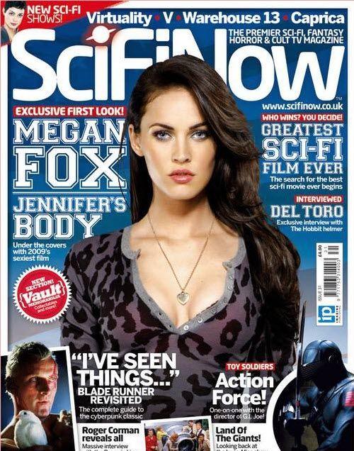 Megan Fox sulla copertina di SciFi Now Magazine