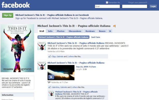 Michael Jackson_facebook_pagina ufficiale
