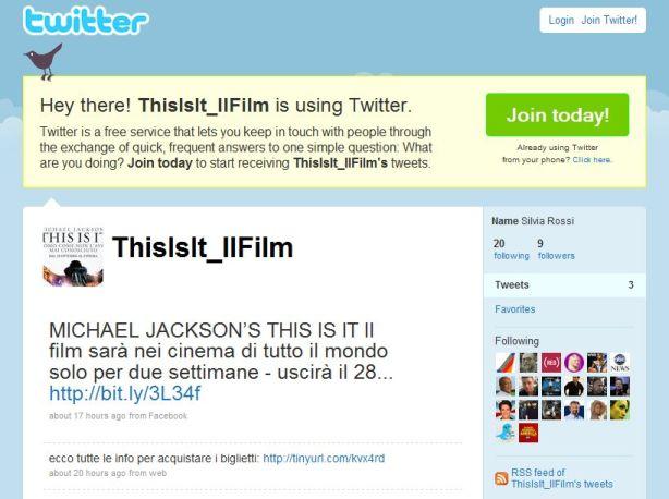 Michael Jackson_twitter_pagina ufficiale
